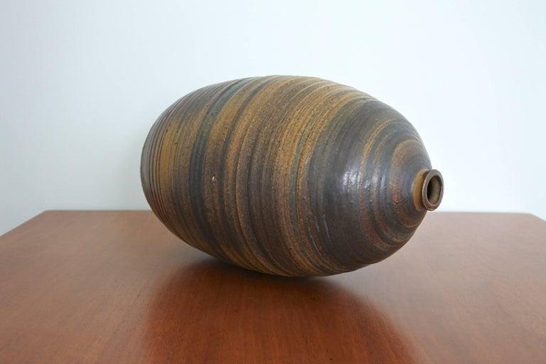 20th Century Mid Century Large Studio Pottery Vase, USA 1960s For Sale
