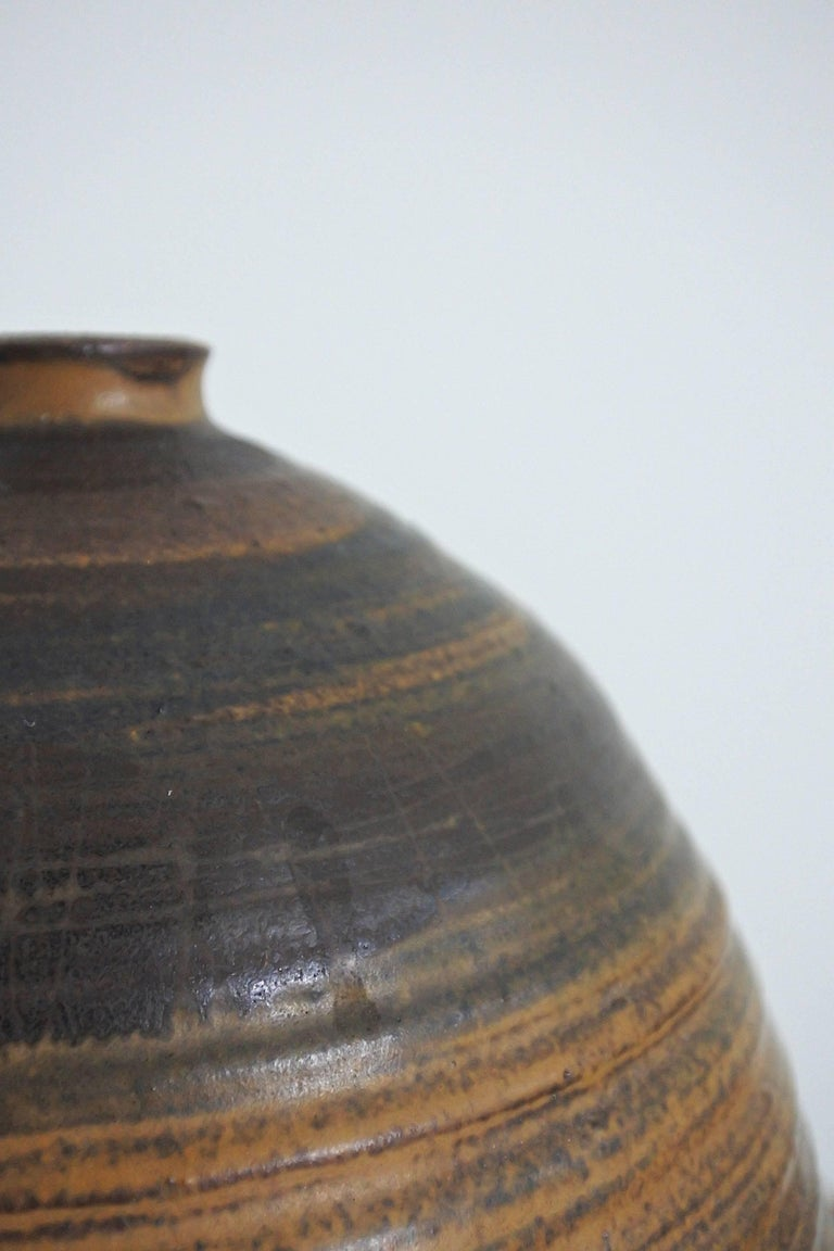 American Mid Century Large Studio Pottery Vase, USA 1960s For Sale