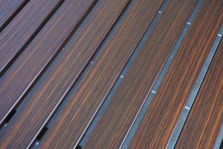 Midcentury Slat Daybed Sofa Mahogany And Zebrano Wood France