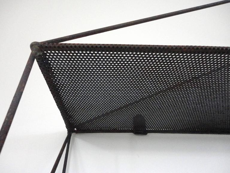 Mid-Century French Architectural Wall Shelves in Perforated Metal, 1950s 6