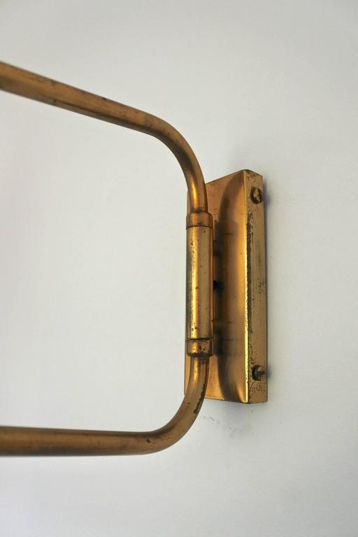 Mid-Century French Swing Wall Lamp by René Mathieu for Lunel, 1950s For Sale 1