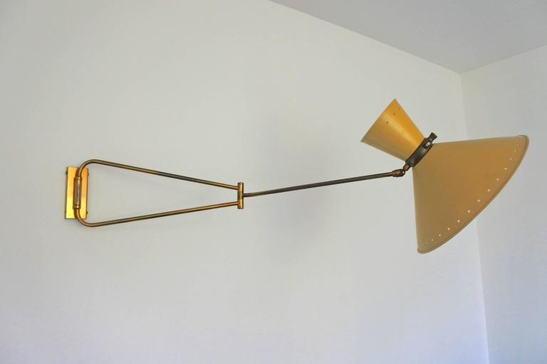 Mid-Century French Swing Wall Lamp by René Mathieu for Lunel, 1950s 3