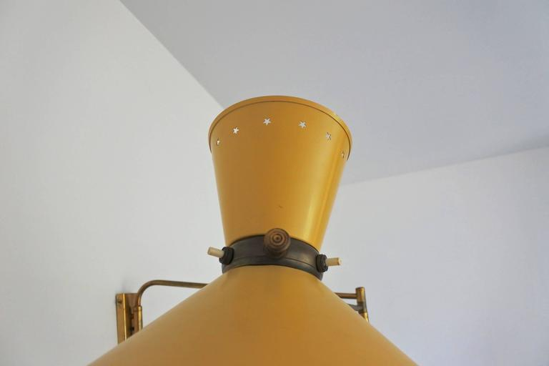 Mid-20th Century Mid-Century French Swing Wall Lamp by René Mathieu for Lunel, 1950s For Sale