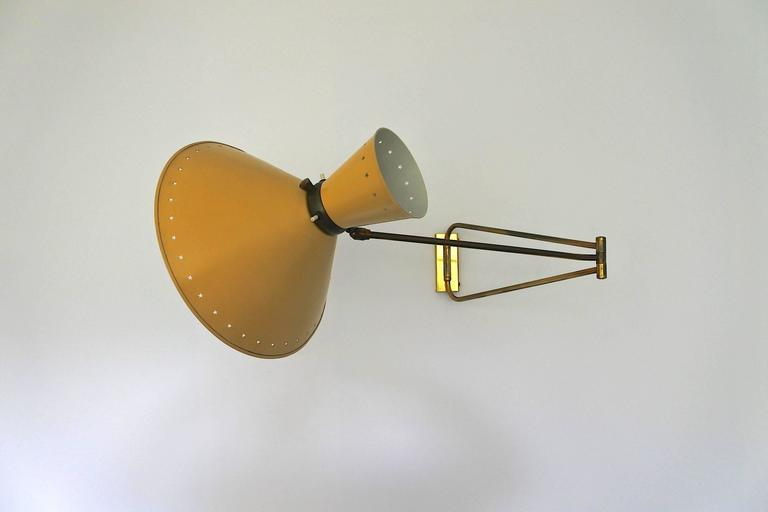 Mid-Century French Swing Wall Lamp by René Mathieu for Lunel, 1950s 2