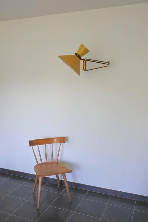 Mid-Century French Swing Wall Lamp by René Mathieu for Lunel, 1950s 10