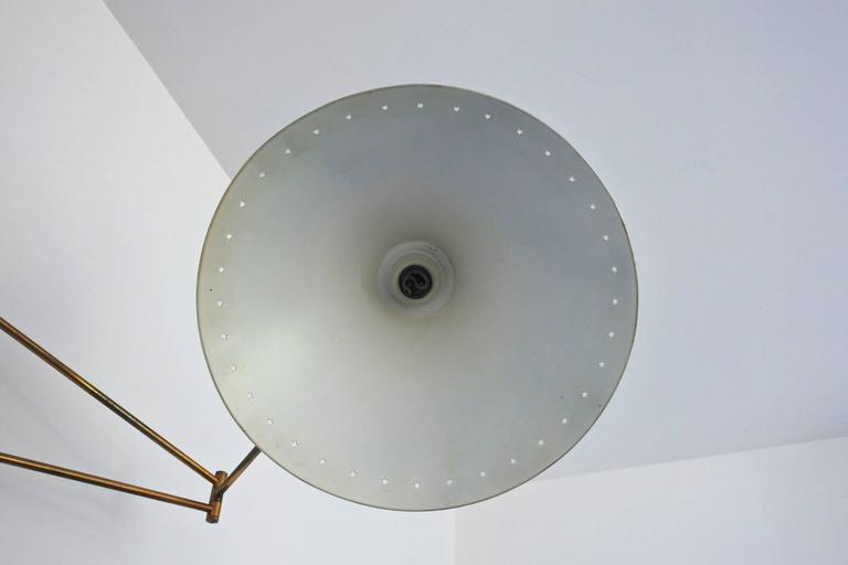 Mid-Century French Swing Wall Lamp by René Mathieu for Lunel, 1950s 9
