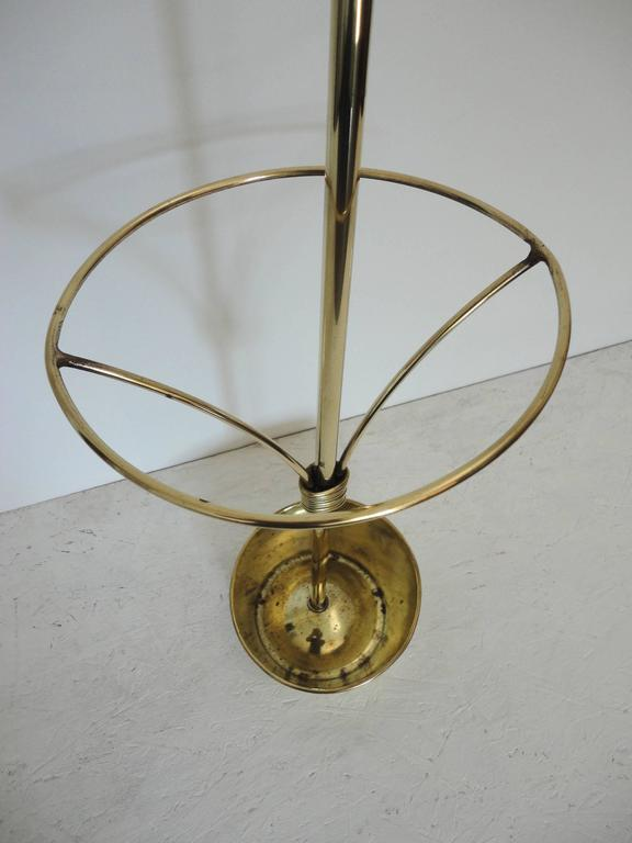 Mathieu Mategot Documented Mid-Century Brass Umbrella Stand, France, 1950s In Excellent Condition For Sale In La Teste De Buch, FR