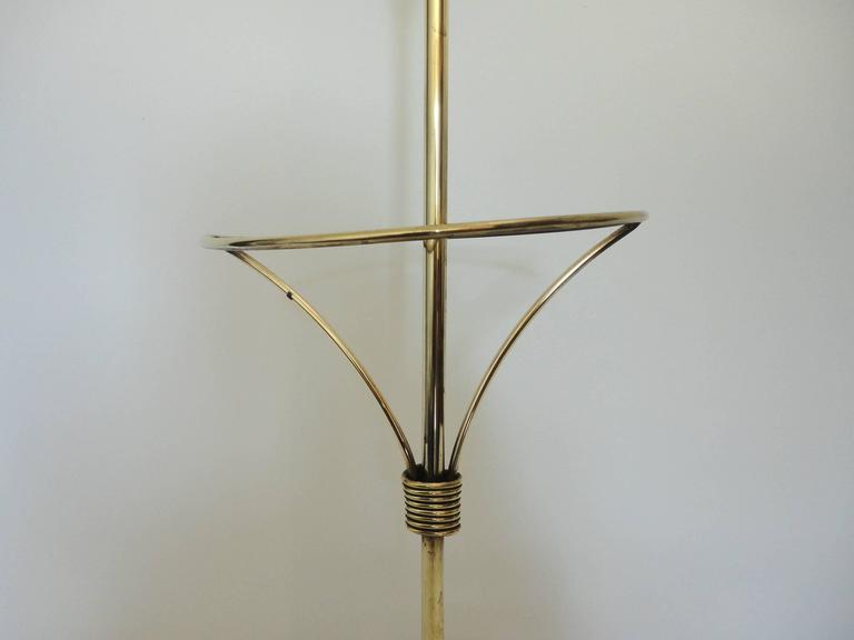 Mid-20th Century Mathieu Mategot Documented Mid-Century Brass Umbrella Stand, France, 1950s For Sale
