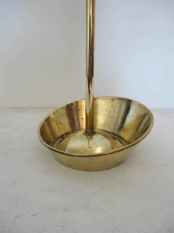 Mathieu Mategot Documented Mid-Century Brass Umbrella Stand, France, 1950s For Sale 1