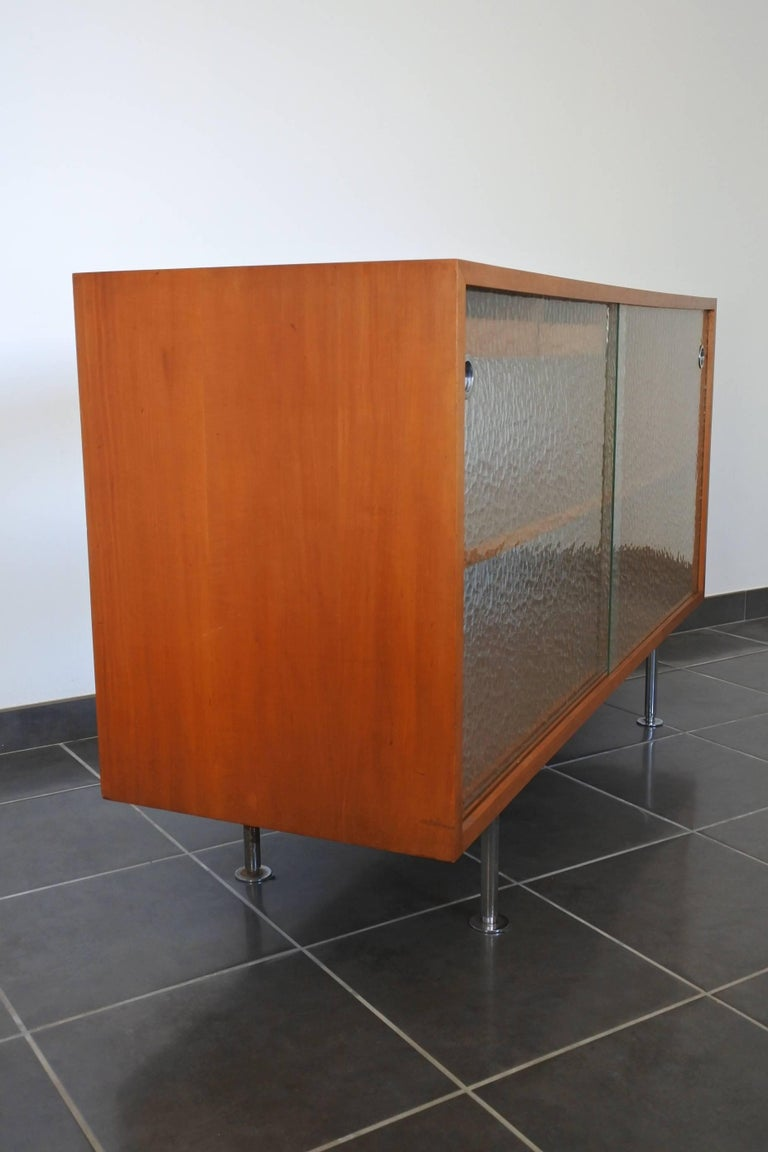 Midcentury Architects Sideboard Wood Sliding Glass Doors Room