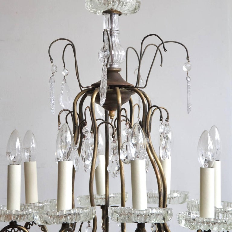 Early 1900s italian birdcage chandelier for sale at 1stdibs early 1900s italian birdcage chandelier in good condition for sale in stockport gb aloadofball Gallery