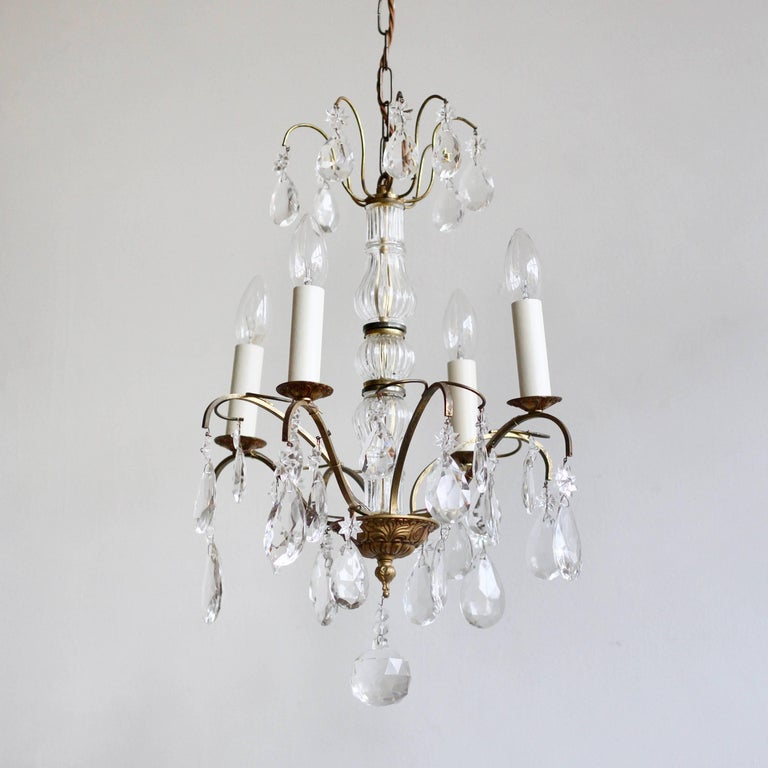 Early 20th Century Louis XIV Style Chandelier Dressed in Crystal ...