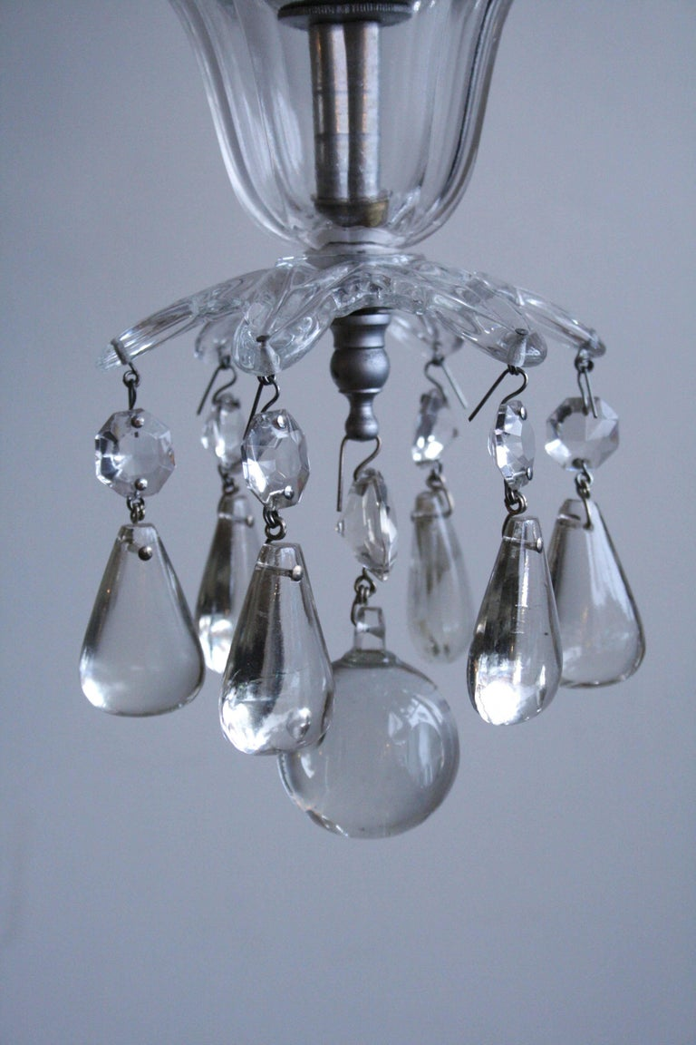 Early 20th Century Early 1900s French Crystal Chandelier For Sale