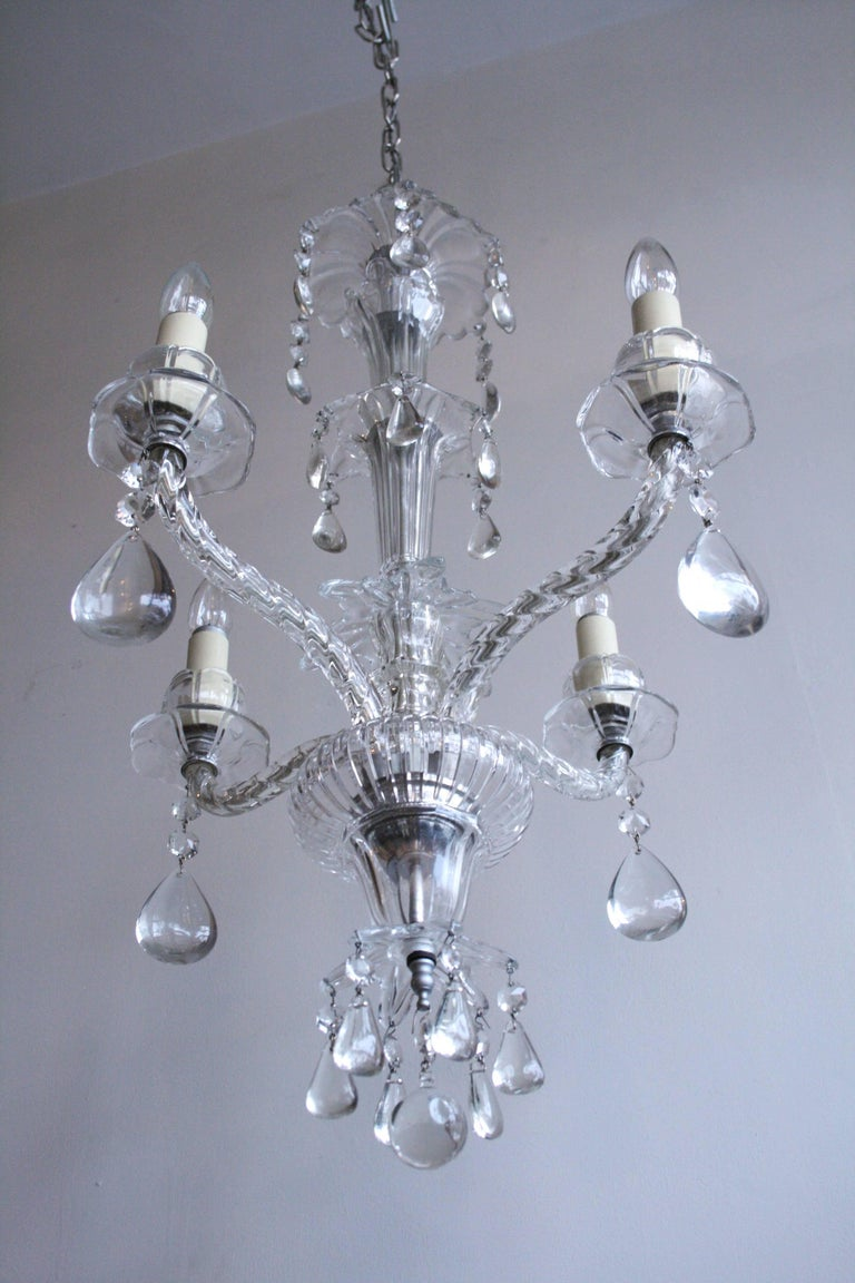 Early 1900s French Crystal Chandelier For Sale 1