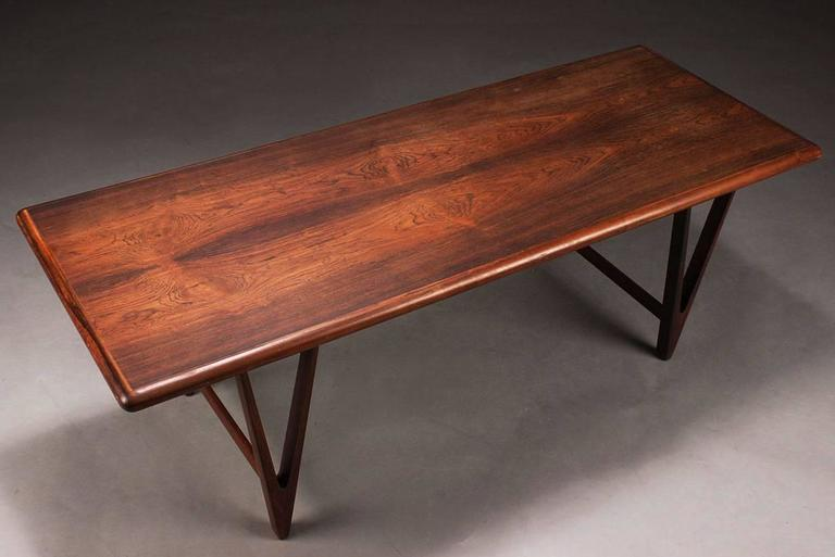 Large Danish Rosewood Coffee Table By E W Bach For Toften M Belfabrik 2