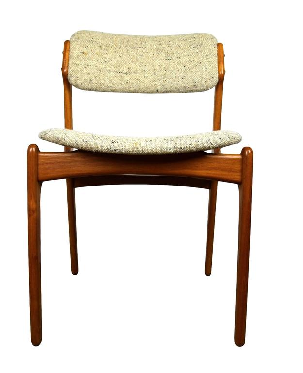 Danish Mid-Century Teak Dining Chairs OD-49 by Erik Buck for O.D. Møbler, 1960s 3