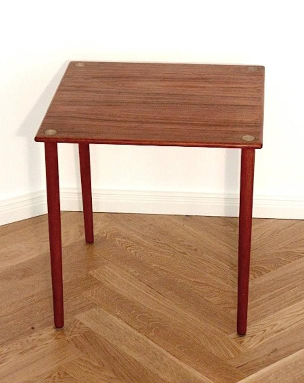 Danish mid century teak side table by georg petersens gp for Functional side table