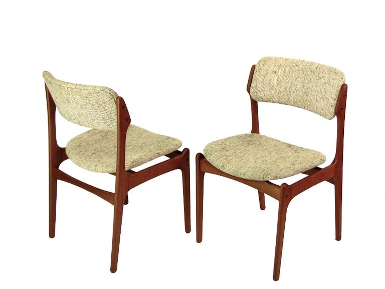 Danish Mid-Century Teak Dining Chairs OD-49 by Erik Buck for O.D. Møbler, 1960s 5