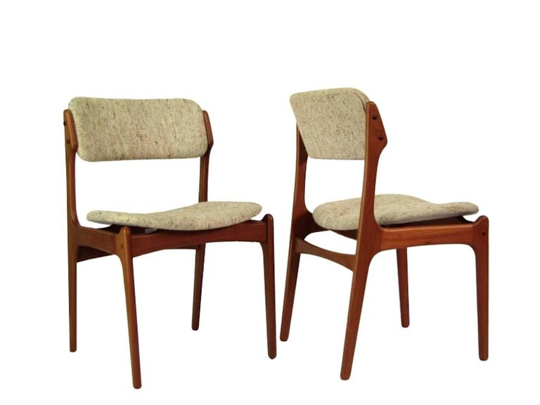 Danish Mid-Century Teak Dining Chairs OD-49 by Erik Buck for O.D. Møbler, 1960s 4