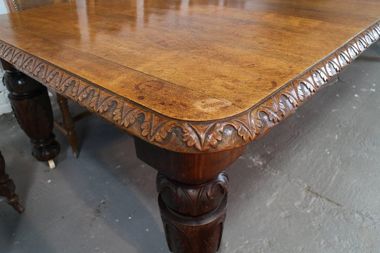 19th Century English Elizabethan Revival Carved Oak