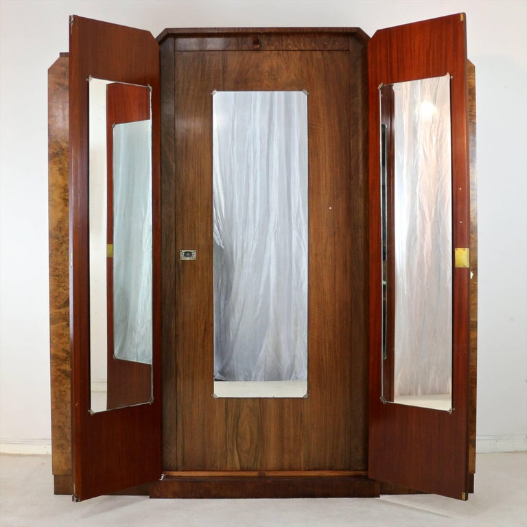 English art deco burr walnut bedroom suite attributed to h - Walnut bedroom furniture sets uk ...