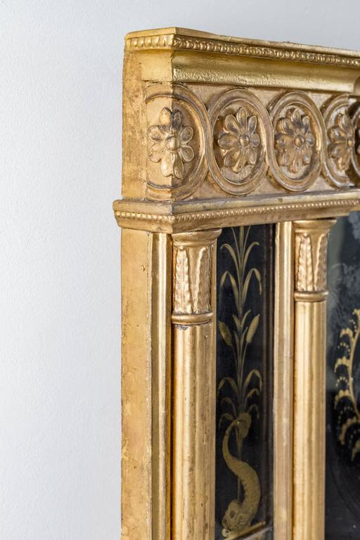 English George III Giltwood Overmantel Mirror For Sale