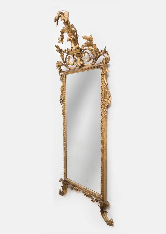 Italian Neoclassical Giltwood Pier Mirror In Excellent Condition For Sale In Sheffield, MA