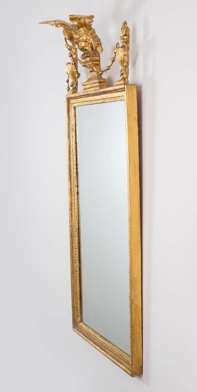 English Sheraton Period Pier Mirror Sheraton Period Neoclassical Giltwood Pier Mirror For Sale