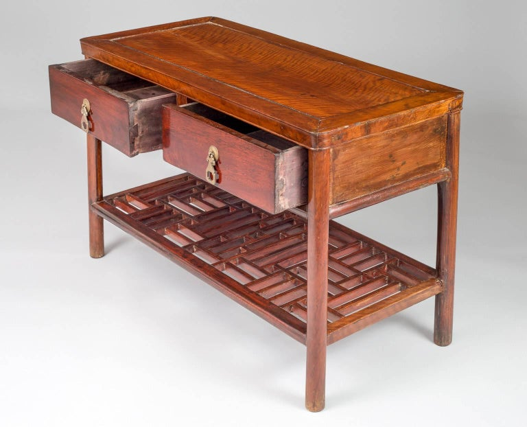 19th Century Chinese Hardwood End or Side Table For Sale