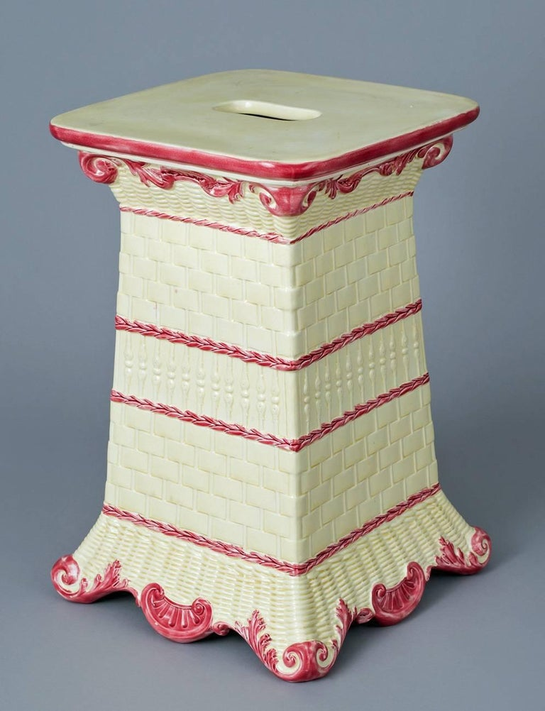 Victorian Wedgwood Garden Seat For Sale