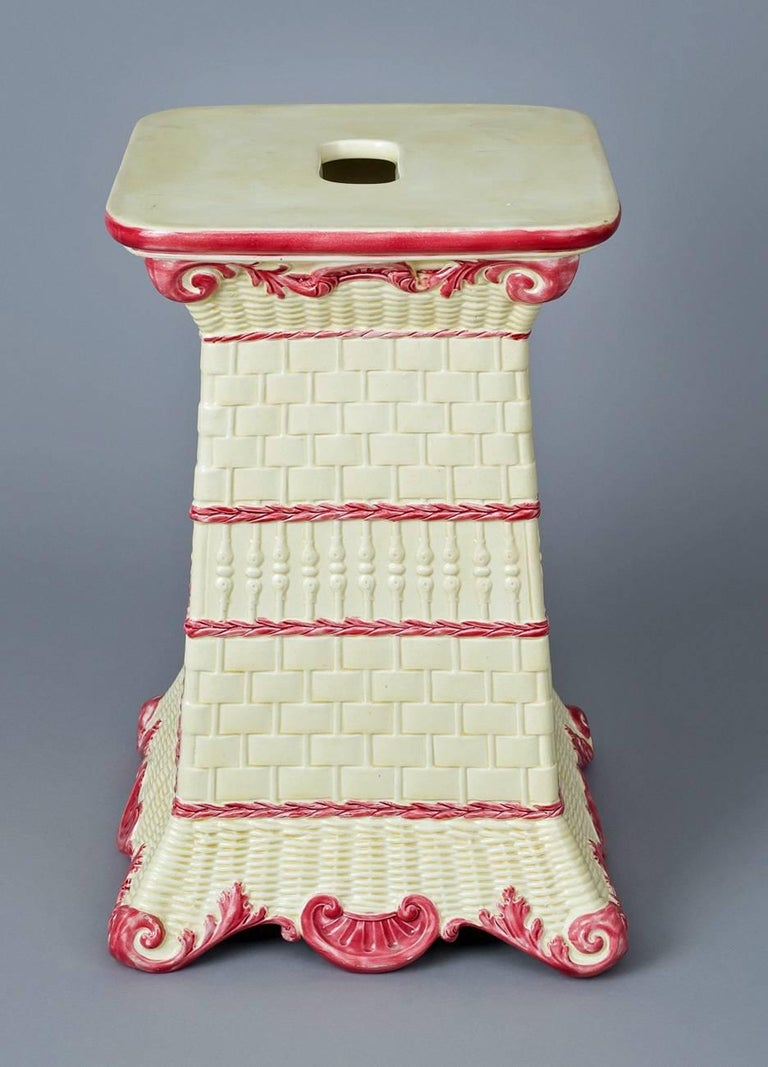 English Wedgwood Garden Seat For Sale