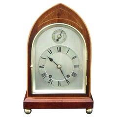 German Mahogany Ting Tang Striking Mantel Clock by W&H