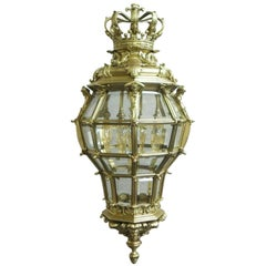 French Louis XIV Style Bronze Gilt Octagonal Versailles Lantern