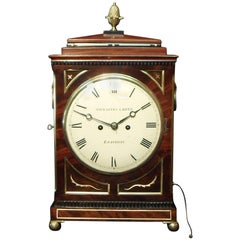 Georgian Mahogany Bracket Clock by Thwaites and Reed