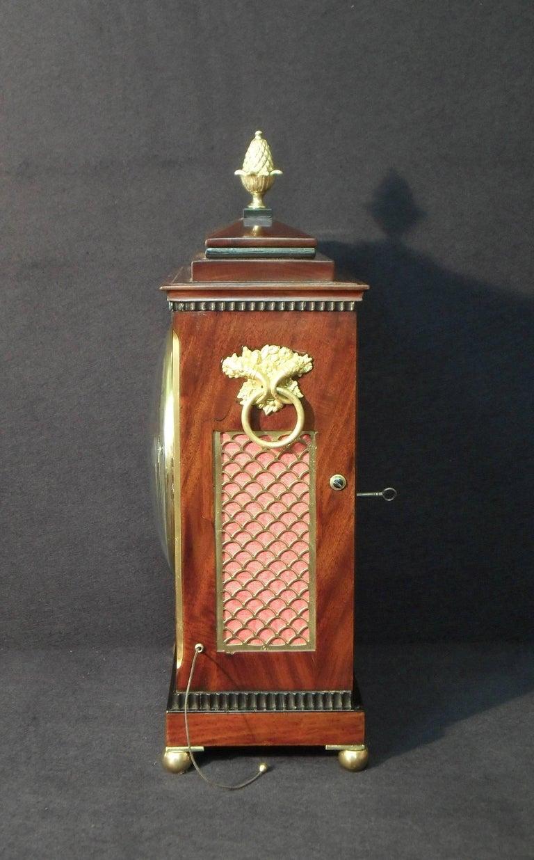 Inlay Georgian Mahogany Bracket Clock by Thwaites and Reed