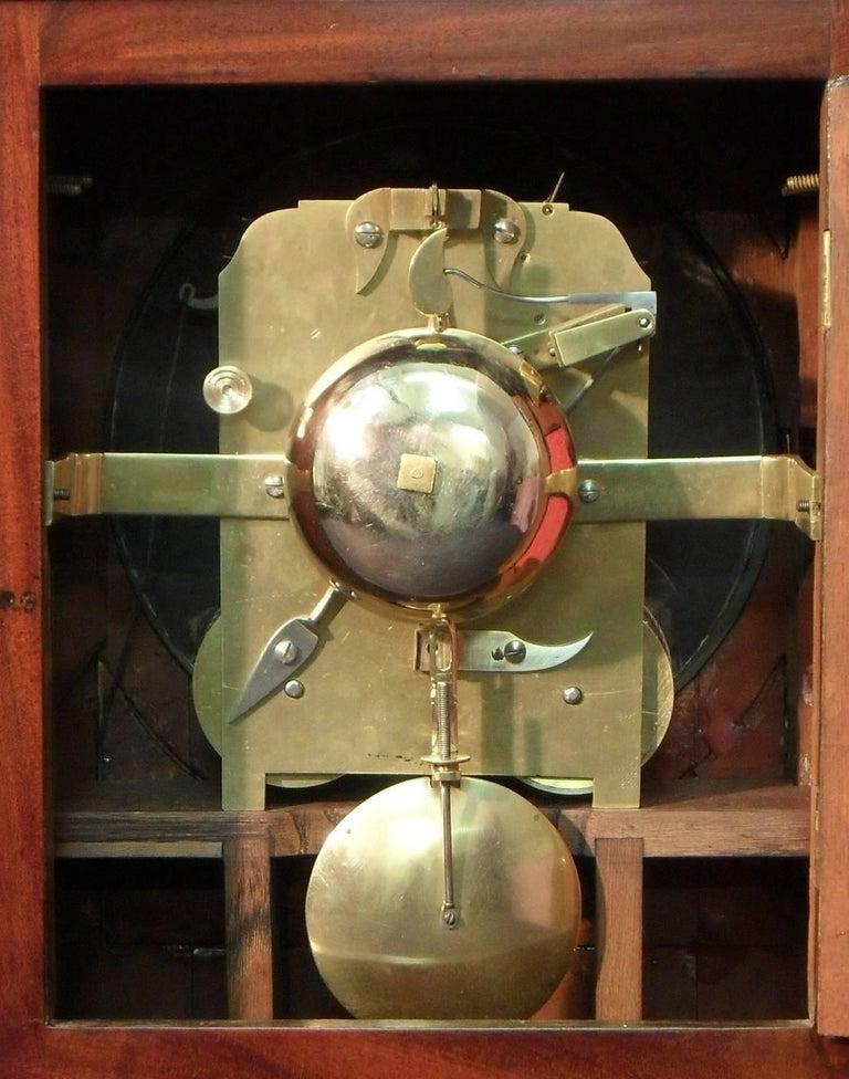 19th Century Georgian Mahogany Bracket Clock by Thwaites and Reed