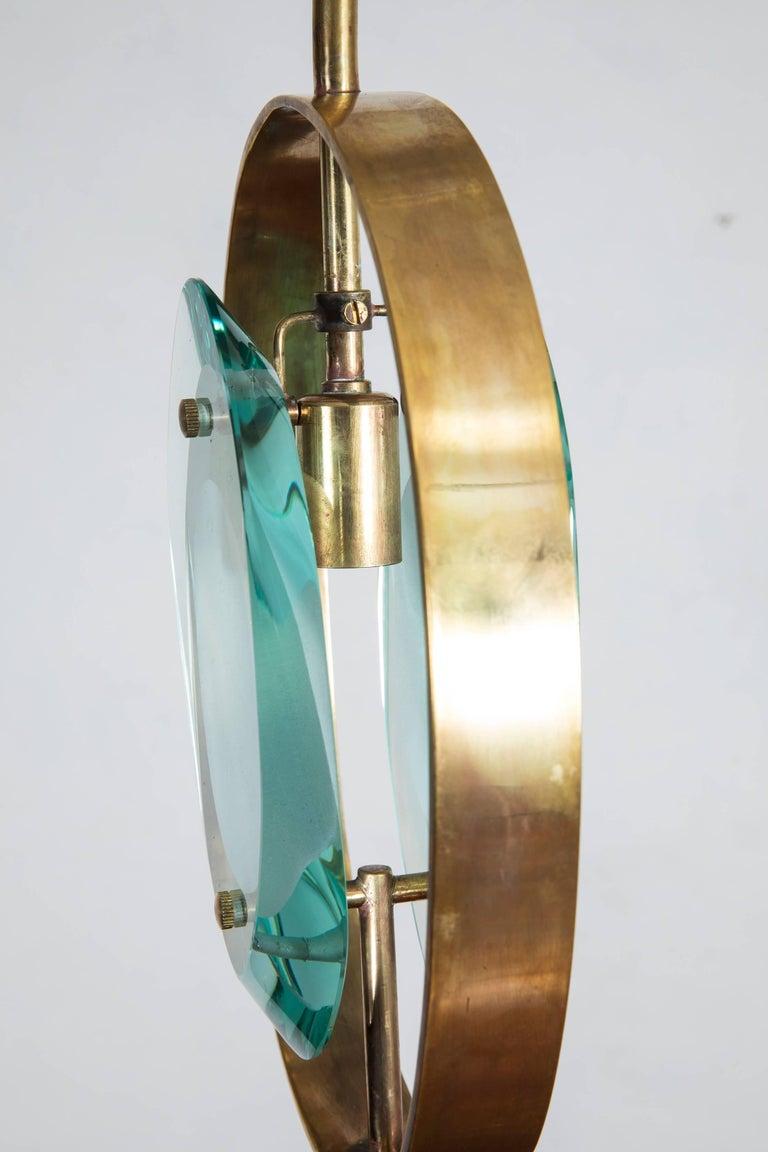 Italian Max Ingrand Brass Pendant Ceiling Lamp 'Model 1933' for Fontana Arte, 1961 For Sale