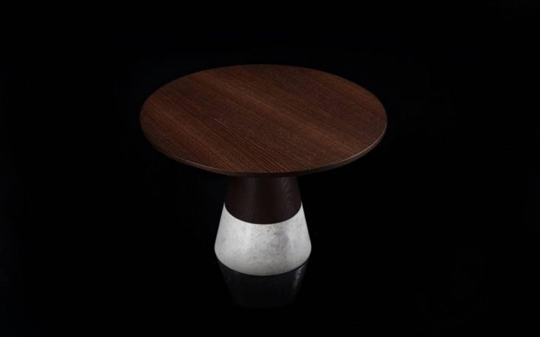 Turkish Echo Side Table by Cristophe Pillet, Quickship Contemporary Marble Table For Sale