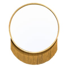 Venus Mirror, Mirror in Gold Leaf Frame and Decorative Fringe