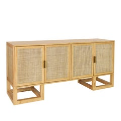 Stockholm Buffet, Contemporary Cane Sideboard in a Modern Vintage Design