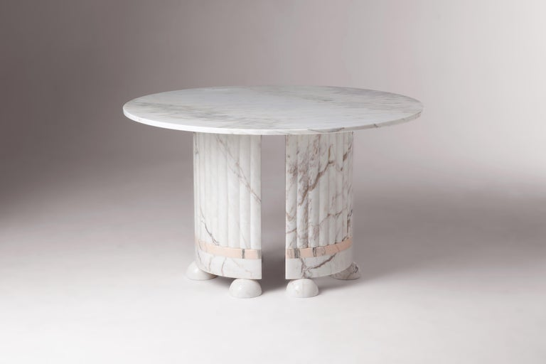 The dining table is designed to question the imposed
