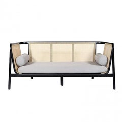Hamp Sofa, Contemporary Woven Cane Sofa