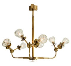 Contemporary Chandelier Made with Fully Loaded Brass and Fine Crystal