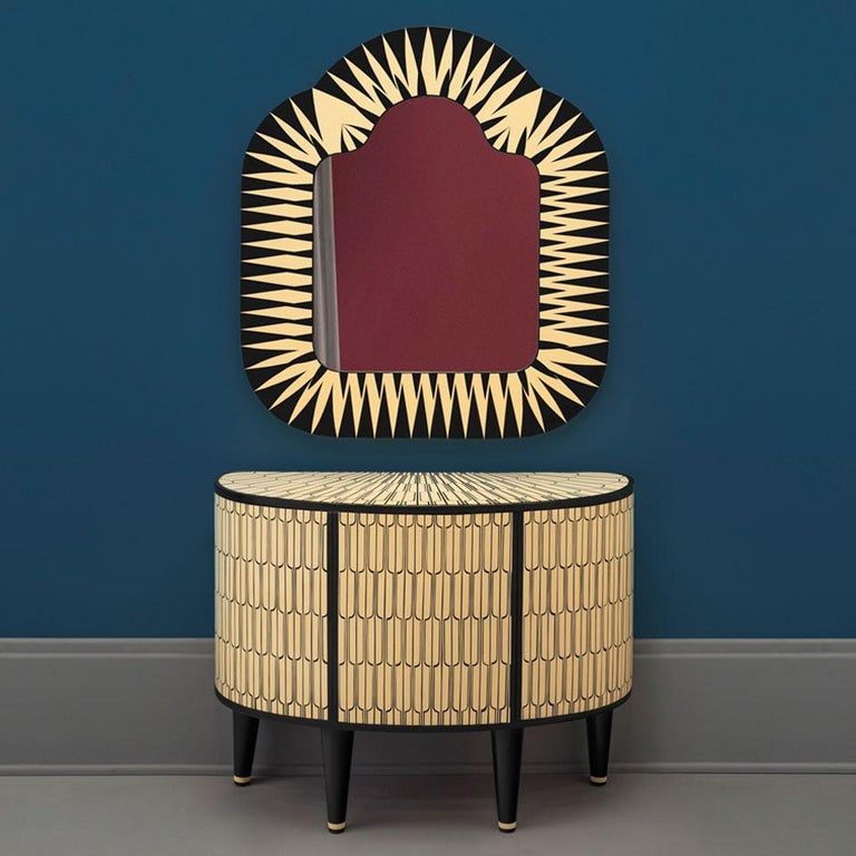 Modern Sheik Cabinet by Matteo Cibic, Contemporary Console Cabinet Set of 2 For Sale