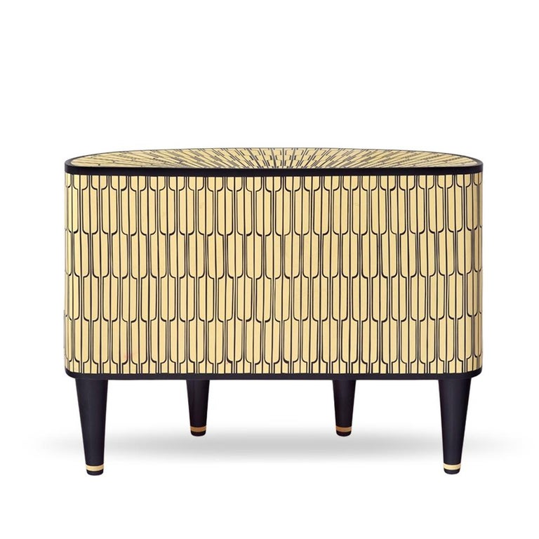 In stock, the Sheik is a gorgeous console cabinet Recommended use: in a residence, office or hotel foyer, along a passage or as a sideboard Vanilla Noir is Scarlet Splendour's debut collection. Matteo Cibic won the 2015 EDIDA Young Talent Award
