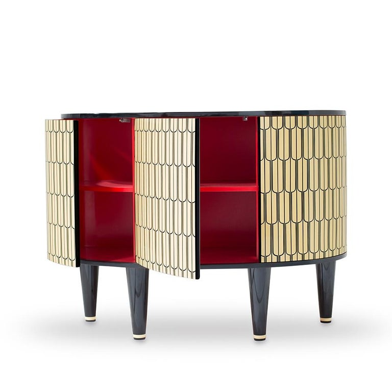 Sheik Cabinet by Matteo Cibic, Contemporary Console Cabinet Set of 2 In New Condition For Sale In New York, NY