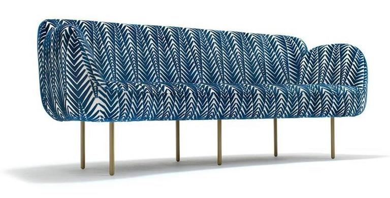 Powder-Coated Stardust Sofa by Nika Zupanc For Sale