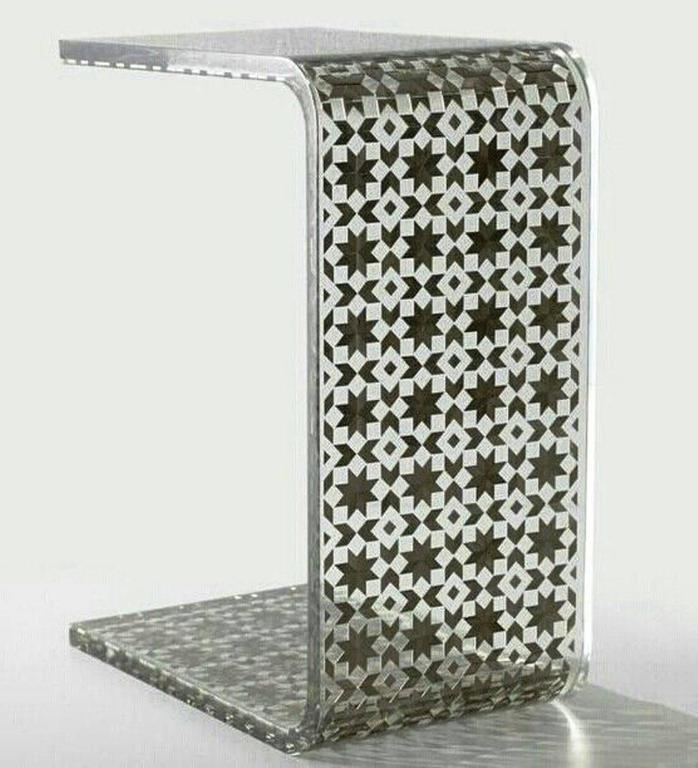 Modern C Resin Side Table, Contemporary Side Table For Sale