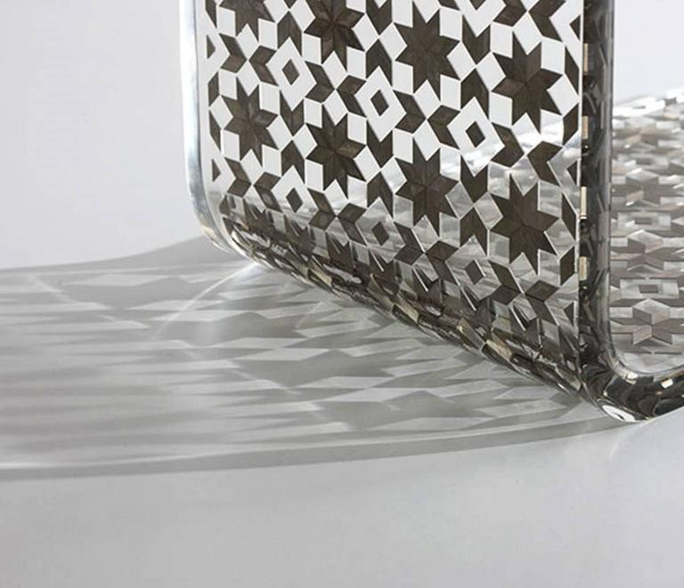 Lebanese C Resin Side Table, Contemporary Side Table For Sale