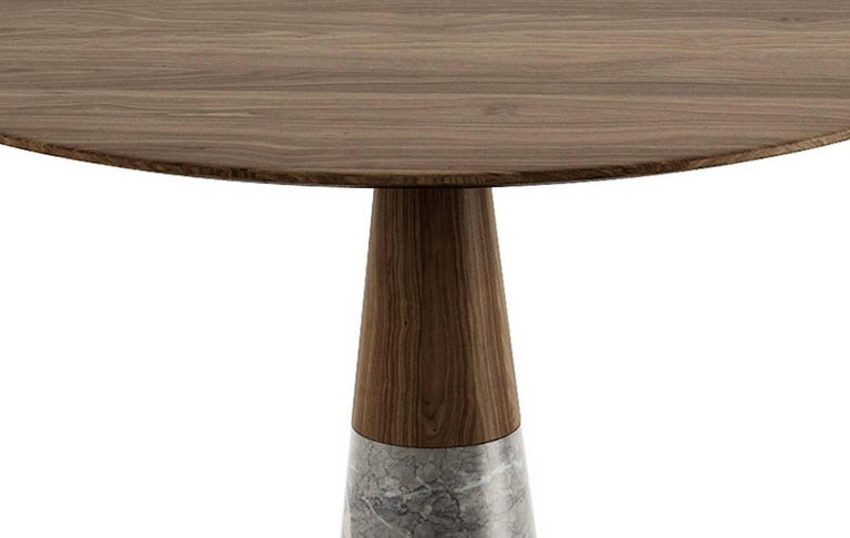 Polished Echo Side Table by Cristophe Pillet, Quickship Contemporary Marble Table For Sale